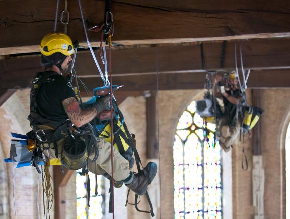 Werken op hoogte training