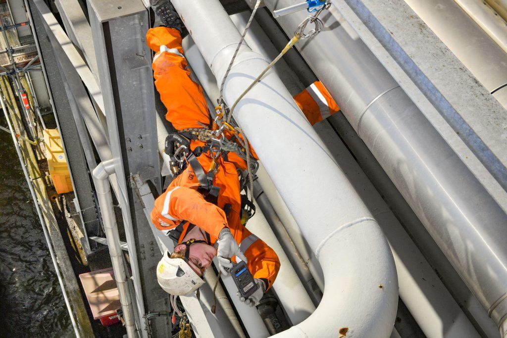 Rope access inspectie werkzaamheden